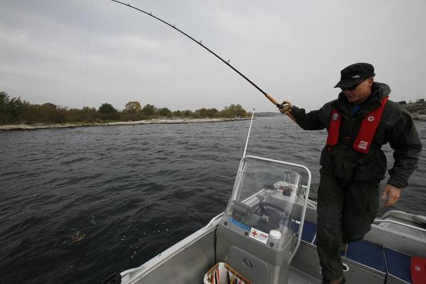 Kristian med fisk