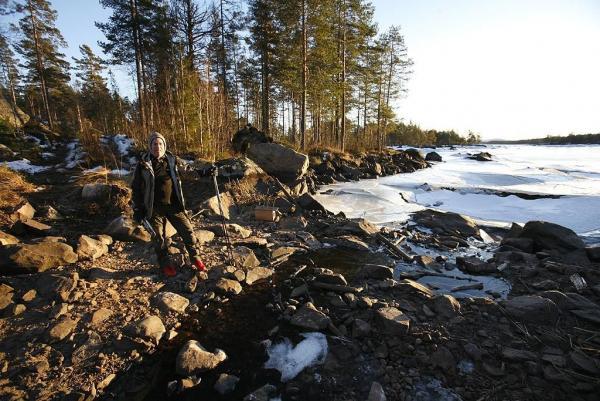 Långfärdsskridskotur Öjesjön 15 januari 2009